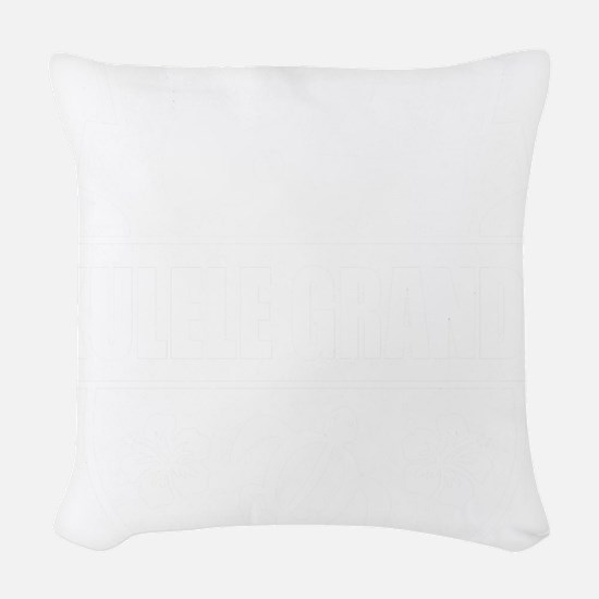 Ukulele GrandPa Woven Throw Pillow