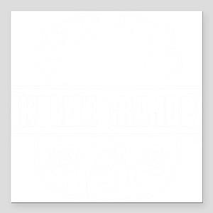 """Ukulele GrandPa Square Car Magnet 3"""" x 3"""""""