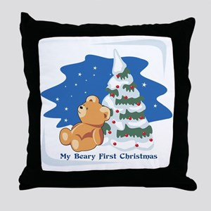My_Beary_First_Christmas Throw Pillow