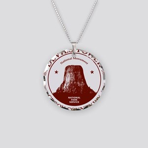 Devils Tower W Necklace Circle Charm