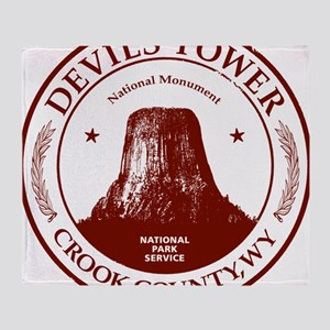Devils Tower W Throw Blanket