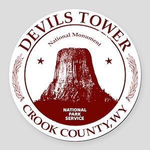 Devils Tower W Round Car Magnet