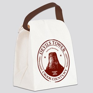 Devils Tower W Canvas Lunch Bag