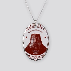 Devils Tower W Necklace Oval Charm