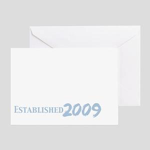 the daddy est 2009_dark Greeting Card