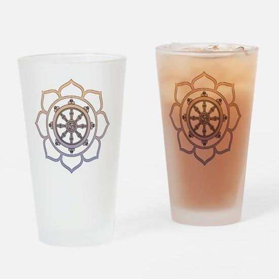 DharmaWheelLotusFlower Drinking Glass