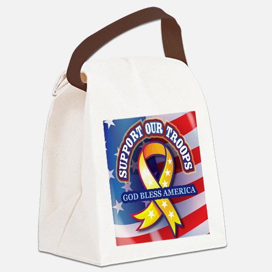 Support-Our-Troops Canvas Lunch Bag