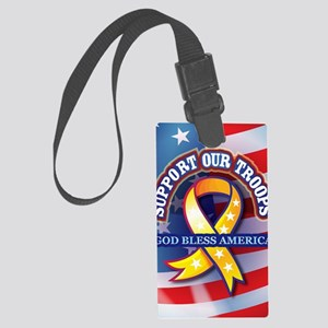 Support-Our-Troops Large Luggage Tag
