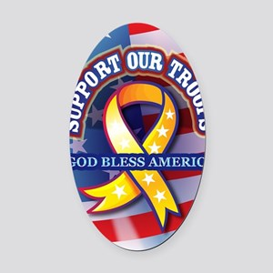 Support-Our-Troops Oval Car Magnet