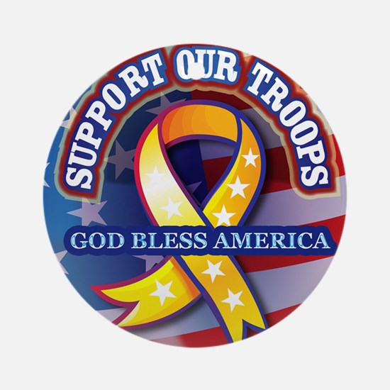 Support-Our-Troops Round Ornament