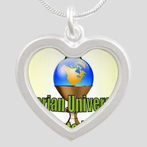 UUEN Logo Silver Heart Necklace