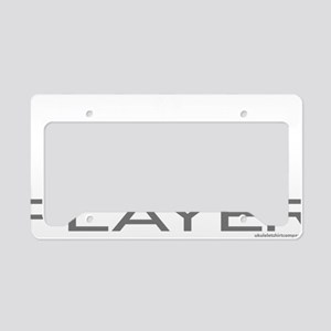 Uke Player License Plate Holder