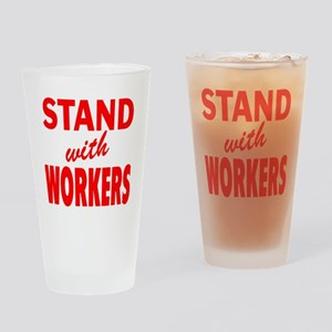 Stsnd with Workers red Drinking Glass