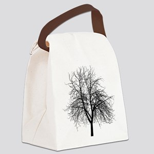 Tree Outline Canvas Lunch Bag