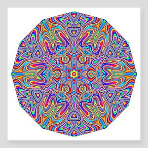 "Digital Mandala 4 Square Car Magnet 3"" x 3"""