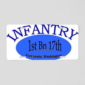 1st Bn 17th Infantry cap2 Aluminum License Plate