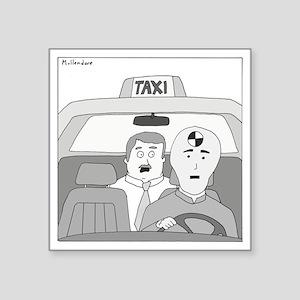 """Taxi Driver Square Sticker 3"""" x 3"""""""