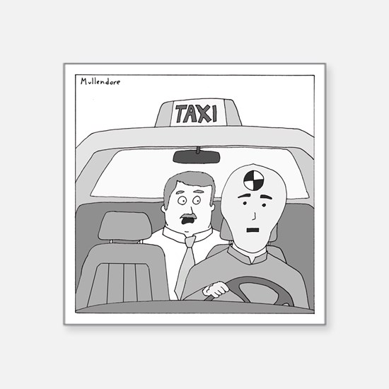 "Taxi Driver Square Sticker 3"" x 3"""