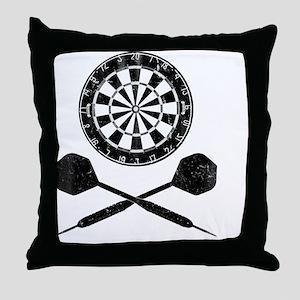 Darts_shirt Throw Pillow