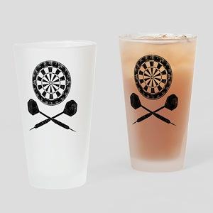 Darts_shirt Drinking Glass