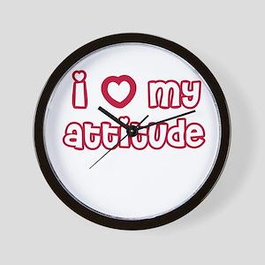 I Heart My Attitude Wall Clock