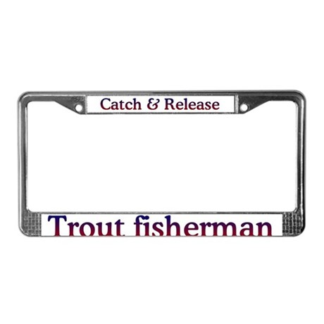 Trout Fishing License Plate Frame
