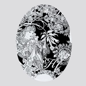 SLIDER BW H MARG iphone Oval Ornament
