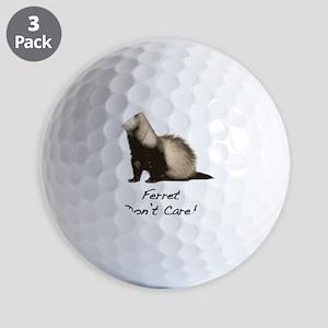 Ferret Dont Care! Golf Balls