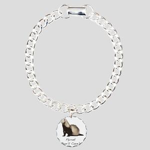 Ferret Dont Care! Charm Bracelet, One Charm