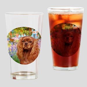 J-ORN-Garden-RubyCavalier2 Drinking Glass