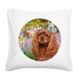 Cavalier king charles Square Canvas Pillows