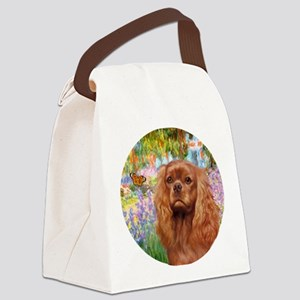 J-ORN-Garden-RubyCavalier2 Canvas Lunch Bag