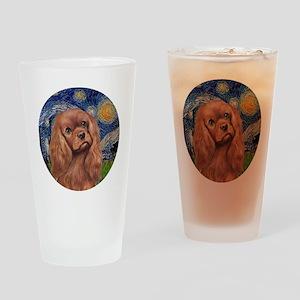 J-ORN-StarryNight-RubyCavalier Drinking Glass