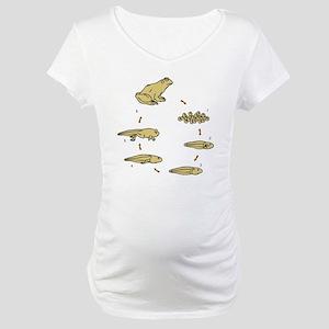 t-shirt_frogLifeCycle Maternity T-Shirt