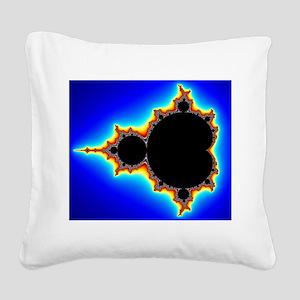 Mandelbrot Set 03 Square Canvas Pillow