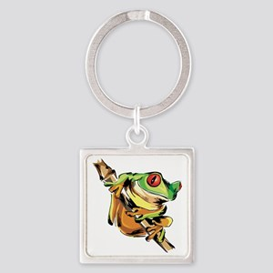 Tree frog Square Keychain