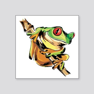 "Tree frog Square Sticker 3"" x 3"""