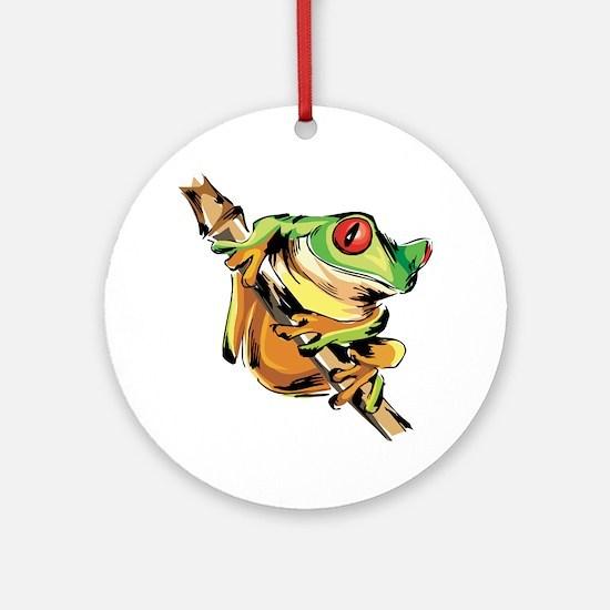 Tree frog Round Ornament