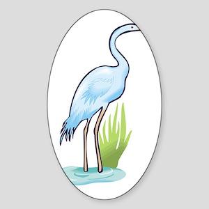 Heron Sticker (Oval)