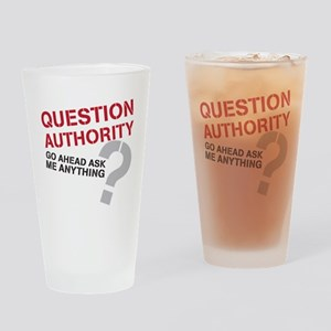 QUESTIONAUTHORITY Drinking Glass