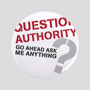 """QUESTIONAUTHORITY 3.5"""" Button"""