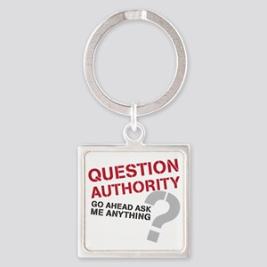 QUESTIONAUTHORITY Square Keychain