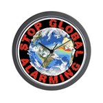 Stop Global Alarming Wall Clock