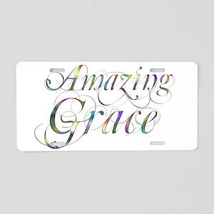 Amazing Grace Aluminum License Plate