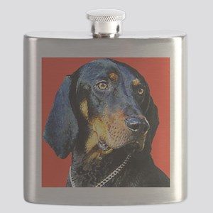 Black and Tan Coonhound Flask