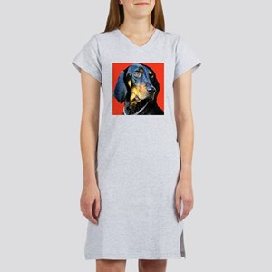 Black and Tan Coonhound Women's Nightshirt