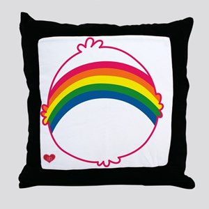 CareBear-Rainbow Throw Pillow