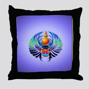 Heart Jewel  Hot Scarab-light Throw Pillow