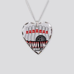 bowling Necklace Heart Charm