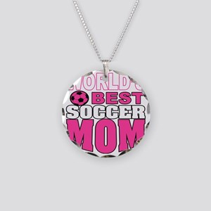 Worlds Best soccer Mom Necklace Circle Charm